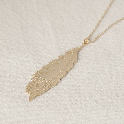 CORAL&TUSK FEATHER NECKLACE ネックレス(668 CT FEATHER)