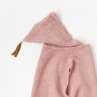 NUMERO 74  PONCHO キッズ ワッフルポンチョ(S007 DUSTY PINK)1(1-4A)