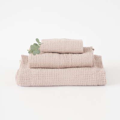 NUMERO 74  SET OF TOWELS ワッフルタオルセット(S007 DUSTY PINK)