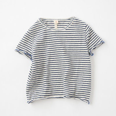 *【PRE SALE 20%OFF】BELLEROSE 2018SS キッズ GRAP ボーダーTシャツ(STR1 ブラック)3A-8A