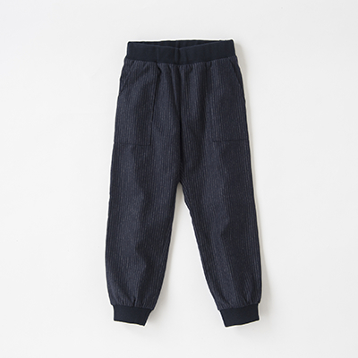【OUTLET 50%OFF】BONPOINT 2018AW キッズ フランネルストライプパンツ(270 )6A-8A