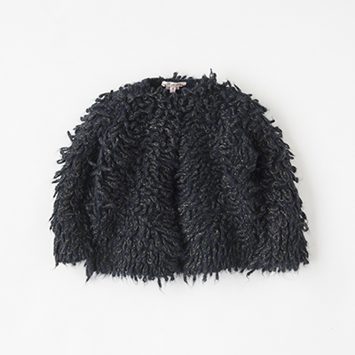 【OUTLET 50%OFF】BONPOINT 2018AW キッズ BDF3803CA ループニットジャケット(076 ミッドナイトブルー)4A