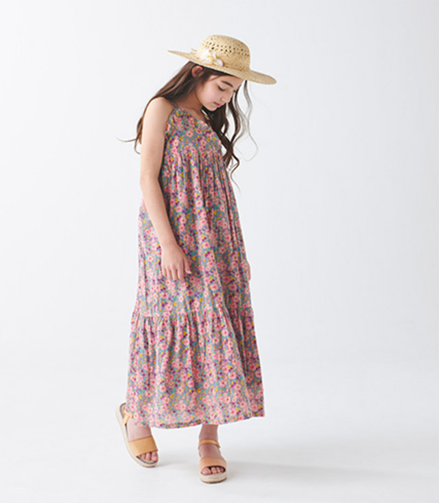 BONTON DRESS ¥17,600_8A-12A HAT ¥7,700