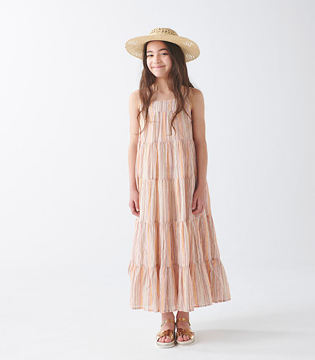 BONTON DRESS ¥15,950_8A-12A HAT ¥7,700