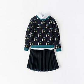 BONPOINT BLOUSE, PULLOVER, BELLEROSE SKIRT