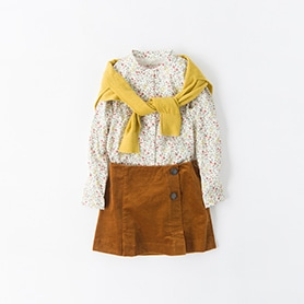 BONPOINT BLOUSE, BELLEROSE SKIRT, CARDIGAN