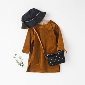 BELLEROSE DRESS, HAT, BAG