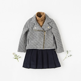 PETIT BATEAU TURTLE NECK SHIRT, SKIRT, JACKET
