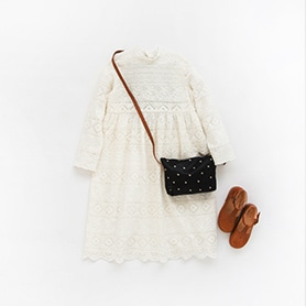 BONPOINT DRESS, BELLEROSE BAG, NATHALIE VERLINDEN SHOES