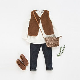 BONTON BLOUSE, VEST, BONPOINT PANTS, NATHALIE VERLINDEN SHOES