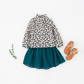 BONPOINT BLOUSE, BONTON SKIRT, NATHALIE VERLINDEN SHOES