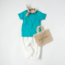 BONTON T-SHIRT, PANTS, SCARF, BAG