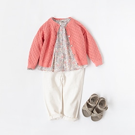 BONTON BLOUSE, CARDIGAN, SANDALS, BELLEROSE PANTS