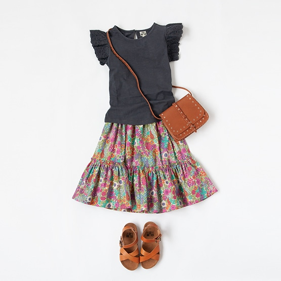 BONTON T-SHIRT, SKIRT, BAG, SANDALS