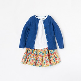 BONTON T-SHIRT, CARDIGAN, SKIRT