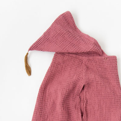 【1月31日まで!SALE 30%OFF】NUMERO 74  PONCHO ワッフルポンチョ(S042 BAOBAB ROSE)2(5-8A)