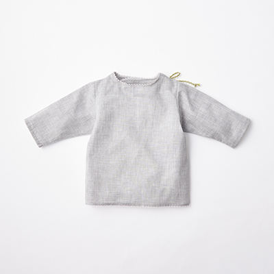 MAKIE BASIC ベビー WRAP BLOUSE ブラウス(GRAY グレー)12/18M