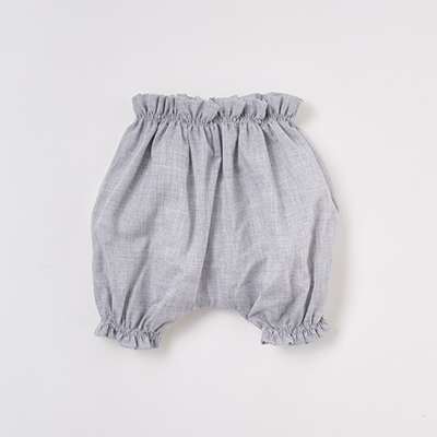 MAKIE BASIC ベビー SWISS COTTON BLOOMERS ブルマ(GRAY グレー)6M