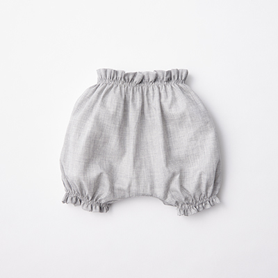 MAKIE BASIC ベビー SWISS COTTON BLOOMERS ブルマ(GRAY グレー)12/18M