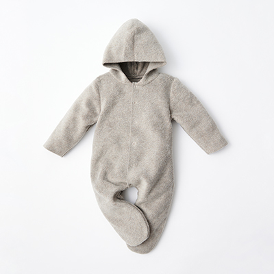 MAKIE BASIC ベビー FLEECE JUMPSUIT NOEL ロンパース(BEIGE ベージュ)6m-18m