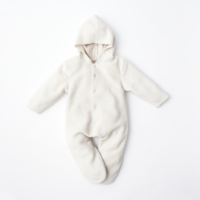 MAKIE BASIC ベビー FLEECE JUMPSUIT NOEL ロンパース(IVORY アイボリー)6m-18m