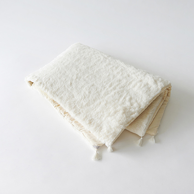 MAKIE BASIC ベビー ORGANIC COTTON BLANKET ブランケット(CREAM クリーム)ONE