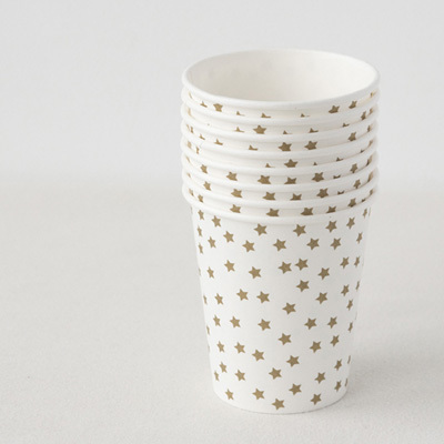 【SALE 40%OFF】MY LITTLE DAY Cup 8pcs Gold Stars ペーパーカップ
