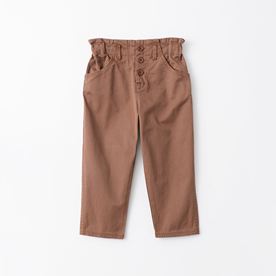 【SALE 50%OFF】CARAMEL 2020AW キッズ コットンパンツ(NUTMEG ブラウン)3A-6A