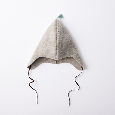 MAKIE 2020AW ベビー POLYESTER FLEECE BONNET フリースボンネット (BEIGE W/MINT ベージュ)M/L