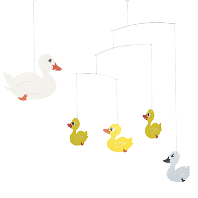 FLENSTED MOBILES みにくいアヒルの子 the ugly duckling(white/yellow ホワイト・イエロー)