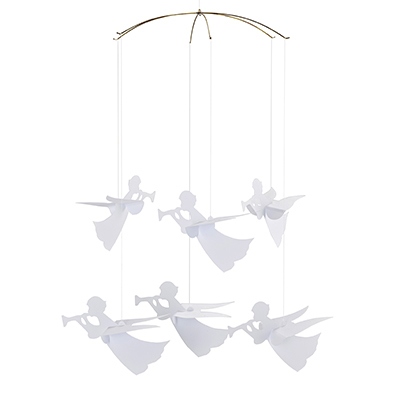 FLENSTED MOBILES 天使 angel mobile(white ホワイト)
