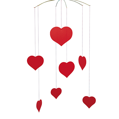 FLENSTED MOBILES ハート happy hearts(valentine)(red レッド)