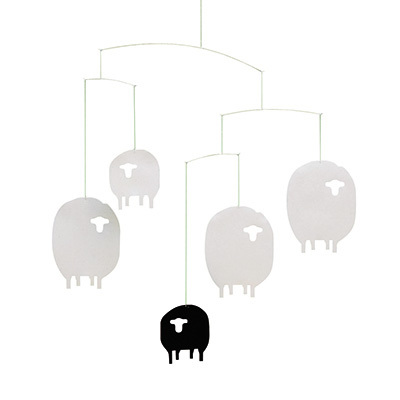 FLENSTED MOBILES 羊 sheep mobile(white/black ホワイト・ブラック)