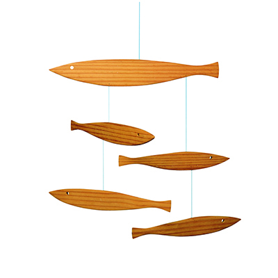 FLENSTED MOBILES 浮かぶ魚 floating fish(natural ナチュラル)