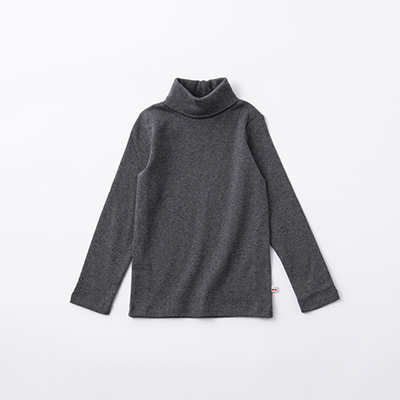 BONPOINT 2020AW キッズ タートルネックカットソー(095 チャコール)8A-12A
