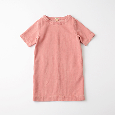 BELLEROSE 2021SS キッズ シャンブレーワンピース(BLEACHED ローズピンク)6A-10A