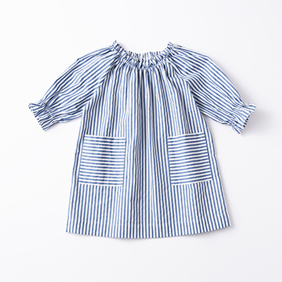 【Coming Soon】BONTON 2021SS キッズ ROBE F(R605 RAY BLUE )4A-6A
